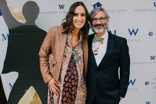 Haring Center board members Alyssa Kreider and Bill Sunderland